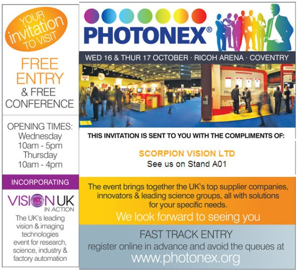 Visit Scorpion Vision Ltd at Photonex