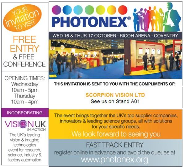 Visit Scorpion Vision Ltd at Photonex