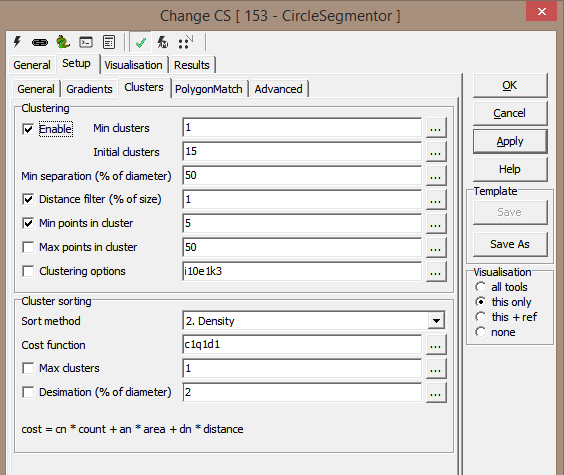 Cluster configuration tab