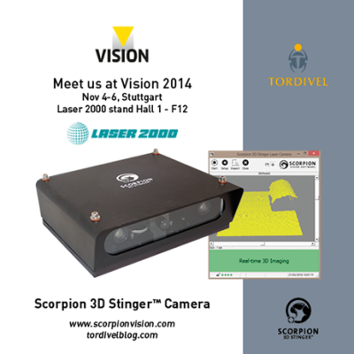 Exhibition Invitation Vision 2014 - Scorpion 3D Stinger Camera - Laser 2000