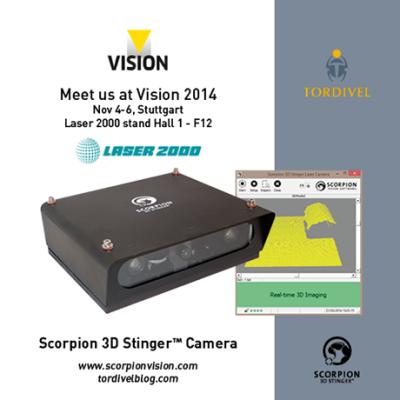 Exhibition Invitation Vision 2014 - Scorpion 3D Stinger Camera - Laser 2000