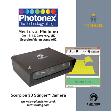 Exhibition Invitation Photonex - Scorpion 3D Stinger Camera - SVL